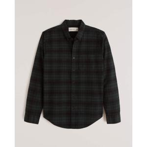 アバクロ チェックシャツ メンズ  長袖 シャツ ターコイズ ホリスター アメリカンイーグル 大きいサイズ XL XXL XXXL|trendcruising