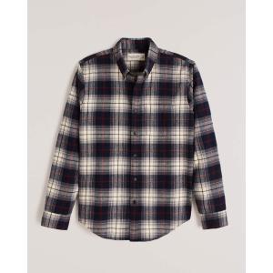 アバクロ チェックシャツ メンズ  長袖 シャツ グリーン ホリスター アメリカンイーグル 大きいサイズ XL XXL XXXL おしゃれ 人気 ニューバランス|trendcruising