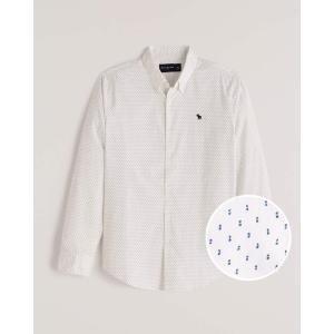 アバクロ シャツ 無地シャツ チェックシャツ メンズ  長袖 シャツ ブルー ホリスター アメリカンイーグル 大きいサイズ XL XXL XXXL|trendcruising