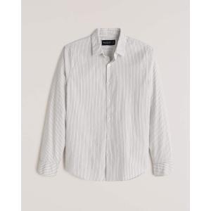 アバクロ シャツ 無地シャツ チェックシャツ メンズ  長袖 シャツ ホワイト ホリスター アメリカンイーグル 大きいサイズ XL XXL XXXL|trendcruising