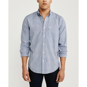 アバクロ デニムシャツ メンズ  長袖 シャツ ブルー ホリスター アメリカンイーグル 大きいサイズ XL XXL XXXL おしゃれ 人気 ニューバランス|trendcruising