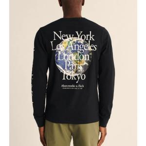 アバクロ メンズ 半袖 ロゴTシャツ 大きいサイズ ダークレッド trendcruising