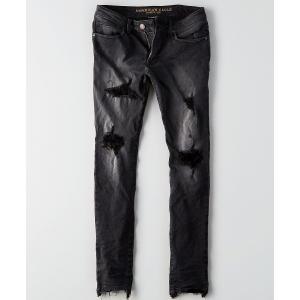 アメリカンイーグル スキニージーンズ メンズ  ブラック trendcruising