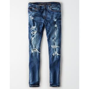 アメリカンイーグル スキニージーンズ メンズ  ブルー AE Ne(X)t Level Skinny Jean デニム 大きいサイズ 32 33 34 36 38 40 42 44 trendcruising
