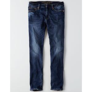 アメリカンイーグル ジーンズ メンズ  スリムストレート ブルー AE Ne(X)t Level Flex Slim Straight Jean デニム 大きいサイズ 32 33 34 36 38 40 42 44 trendcruising