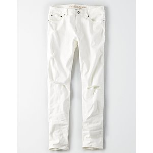 アメリカンイーグル ジーンズ メンズ  スリムストレート ホワイト AE Ne(X)t Level Slim Jean trendcruising