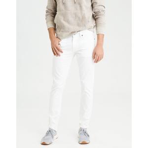 アメリカンイーグル ジーンズ メンズ  スリムストレート ホワイト AE Core Flex Skinny Jean trendcruising