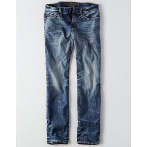 アメリカンイーグル ジーンズ メンズ  ストレート インディゴ AE Flex Original Straight Jean trendcruising