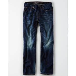 アメリカンイーグル ジーンズ メンズ  リラックスストレート ダーク AE Extreme Flex Loose Jean trendcruising