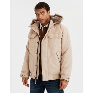 アメリカンイーグル ジャケット アウター メンズ 大きいサイズ AEO Sherpa Lined Flannel Shirt Jacket グレー  アバクロ ホリスター ハーレー サーフ trendcruising