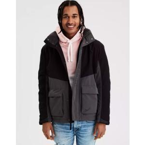 アメリカンイーグル ジャケット メンズ ブラック 大きいサイズ xl xxl xxxl ナイキ ニューバランス アバクロ ホリスター|trendcruising