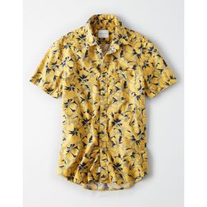 アメリカンイーグル シャツ  メンズ 長袖 レッド|trendcruising