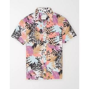 アメリカンイーグル シャツ  メンズ AE Madras Button-Down Shirt ティール|trendcruising