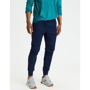 アメリカンイーグル ジョガーパンツ メンズ スウェットパンツ 大きいサイズ xxxl AE Lightweight Fleece Jogger ネイビー|trendcruising