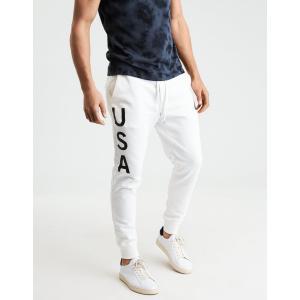 アメリカンイーグル ジョガーパンツ メンズ   xxxl AE Classic Fleece Jogger ホワイト|trendcruising