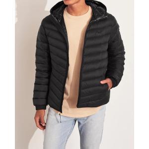 ホリスター ダウンジャケット ライトウェイト メンズ アウター コート ブラック 大きいサイズ xxl