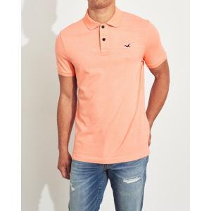 ホリスター ポロシャツ メンズ 半袖  マッスルフィット ライトグレー アバクロ 大きいサイズ|trendcruising