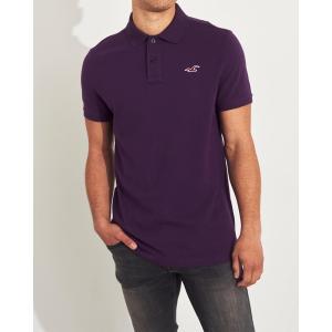 ホリスター ポロシャツ メンズ 半袖  マッスルフィット ネイビー アバクロ 大きいサイズ|trendcruising
