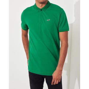 ホリスター ポロシャツ メンズ 半袖  マッスルフィット ヘザーネイビ アバクロ 大きいサイズ|trendcruising