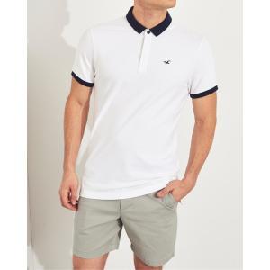 ホリスター ポロシャツ メンズ 半袖  マッスルフィット ヘザーブルー アバクロ 大きいサイズ|trendcruising