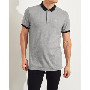 ホリスター ポロシャツ メンズ 半袖  マッスルフィット ターコイズ アバクロ 大きいサイズ|trendcruising