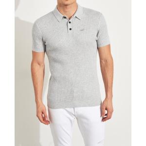 ホリスター ポロシャツ メンズ 半袖  マッスルフィット グリーン アバクロ 大きいサイズ|trendcruising