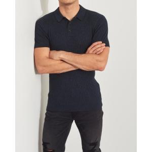 ホリスター ポロシャツ メンズ 半袖  マッスルフィット イエロー アバクロ 大きいサイズ|trendcruising