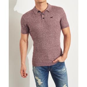 ホリスター ポロシャツ メンズ 半袖  マッスルフィット コーラル アバクロ 大きいサイズ|trendcruising