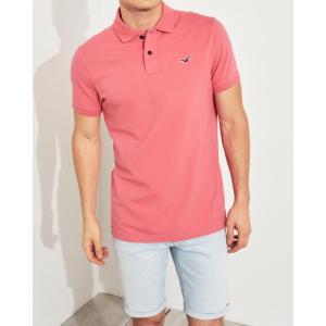 ホリスター ポロシャツ メンズ 半袖  マッスルフィット ピンク|trendcruising