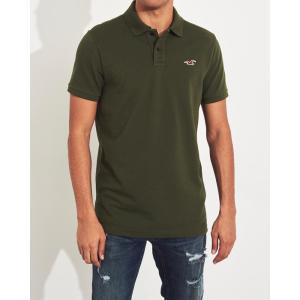 ホリスター ポロシャツ メンズ 半袖  マッスルフィット ブラック|trendcruising