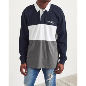ホリスター ポロシャツ メンズ 半袖  マッスルフィット ネイビー|trendcruising