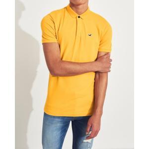 ホリスター ポロシャツ メンズ 半袖  マッスルフィット  ホワイト アバクロ 大きいサイズ|trendcruising