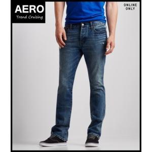 エアロポステール ジーンズ メンズ リラックス ミディアムオッシュ Relaxed Medium Wash Destroyed Jean|trendcruising