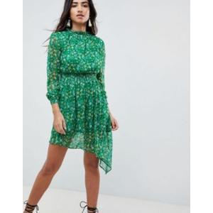 エイソスセレクト ドレス ワンピース レディース  Boohoo Floral High Neck Prairie Dress|trendcruising