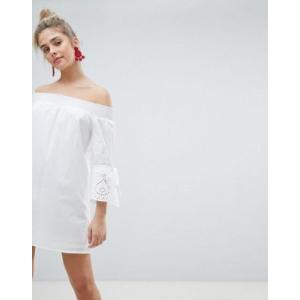 エイソスセレクト ドレス ワンピース レディース  PrettyLittleThing Sleeve Detail Bardot Dress|trendcruising