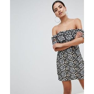 エイソスセレクト ドレス ワンピース レディース  PrettyLittleThing Lace Bardot Mini Dress|trendcruising