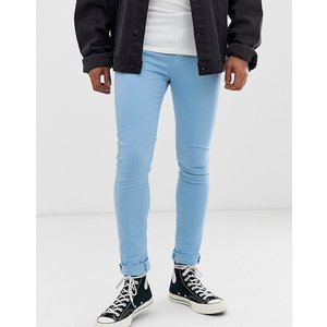 エイソス スーパースキニー ジーンズ メンズ デニム ブルー ASOS Extreme Super Skinny Jeans In Dark Wash Vintage With Rip And Repair|trendcruising