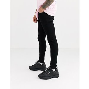 エイソス スーパースキニー ジーンズ メンズ デニム ダークブルー ASOS Extreme Super Skinny Jeans In White おしゃれ バイカー|trendcruising