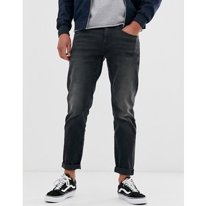 エイソス スーパースキニー ジーンズ  メンズ デニム ブラック ASOS Super Skinny Jeans in 12.5oz With Mega Rips In Washed Black|trendcruising