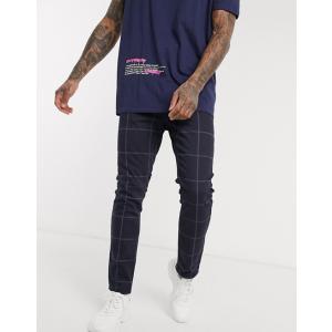 エイソス スーパースキニー ジーンズ  メンズ デニム ライトブルー  ASOS Super Skinny Jeans In Bleach Blue|trendcruising