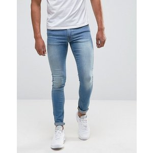エイソス スーパー スキニー ジーンズ メンズ ASOS Extreme Super Skinny Jeans In Light Wash|trendcruising