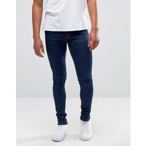 エイソス スーパー スキニー ジーンズ メンズ ブルー ASOS Extreme Super Skinny Jeans In Raw Blue|trendcruising