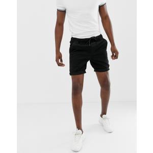 エイソス デニム ショートパンツ メンズ ショーツ 2パック ASOS DESIGN Denim Shorts In Slim Washed Black With Abrasions & Light Wash|trendcruising