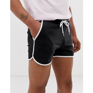 エイソス ショートパンツ メンズ ショーツ 2パック ASOS DESIGN 2 Pack Denim Shorts In Slim Washed Black & Light Wash With Heavy Rips 2 Pack SAVE|trendcruising