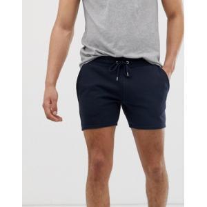 エイソス ショートパンツ メンズ ASOS DESIGN Festival Skinny Shorter Shorts In Black With Tassel Side Stripe|trendcruising