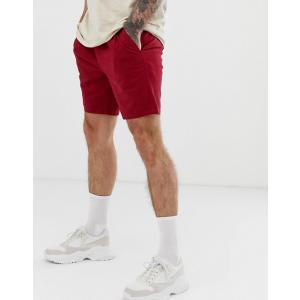 エイソス ショートパンツ メンズ ブラック ASOS DESIGN Skinny Chino Shorts In Black trendcruising