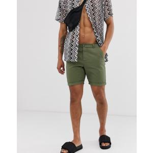 エイソス ショートパンツ メンズ グレー ショーツ ASOS Jersey Shorts In Grey Marl|trendcruising