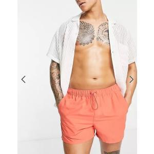 エイソス 水着 スイムパンツ メンズ ボードショーツ ネイビー ASOS Swim Shorts In Navy Mid Length ビラボン クイックシルバー ボルコム ハーレー|trendcruising
