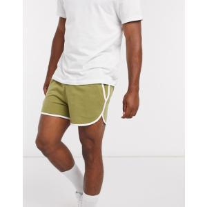ナイキ スイムパンツ ボードショーツ サーフパンツ メンズ 水着 エイソスセレクト グリーン Nike Exclusive Volley Super Short Swim Short In Green|trendcruising