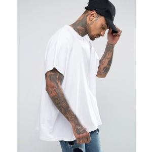 エイソス Tシャツ メンズ 半袖 ホワイト ASOS Extreme Oversized T-Shirt In White|trendcruising